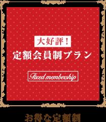 """お得な定額制プラン"""""""